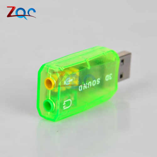 CM108 Chipset USB 2.0 Naar 3D Audio Sound Card Adapter Virtual 5.1-Kanaals Track Class-B Eindversterker Voor microfoon Headset