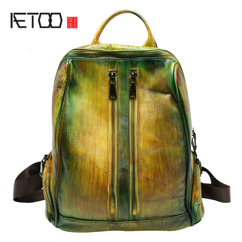 AETOO Shoulder bag retro shoulder bag Korean version of the new bag splashing water backpack casual fashion white package ladies korean version canvas shoulder bag backpack student bag ladies cartoon cute new child birthday gift
