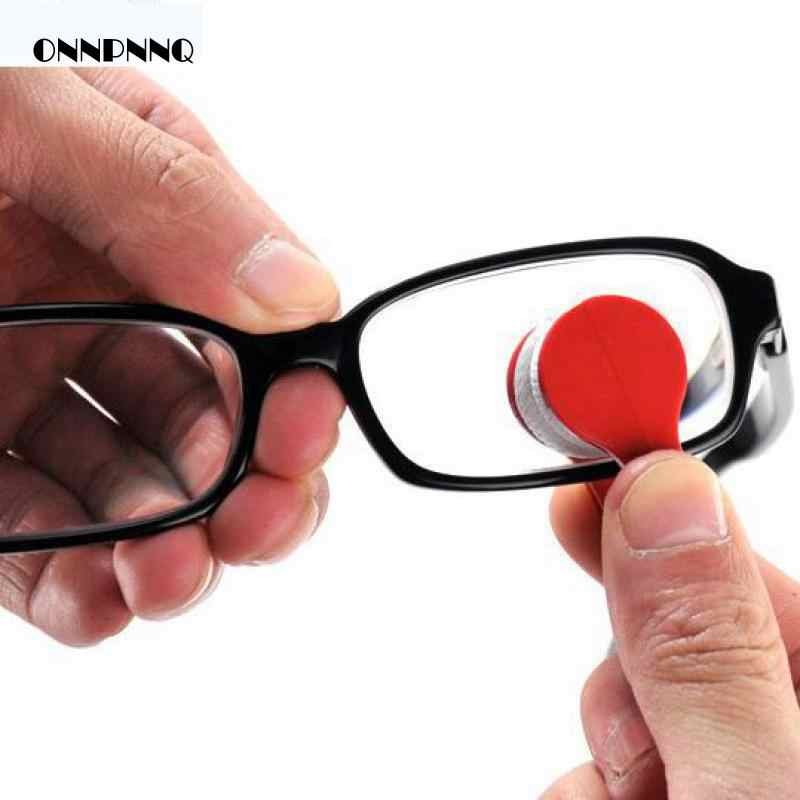 2pcs/lot Portable Eyeglasses Handle Brush Cleaning Brush For Household Furniture Glass Wiper Spectacles Clean Brusher