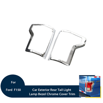 Exterior Rear Tail Light Lamp Shade Bezel Chrome Cover Trim Fit For Ford F150 2015-2016 Decoration Car Accessories Styling