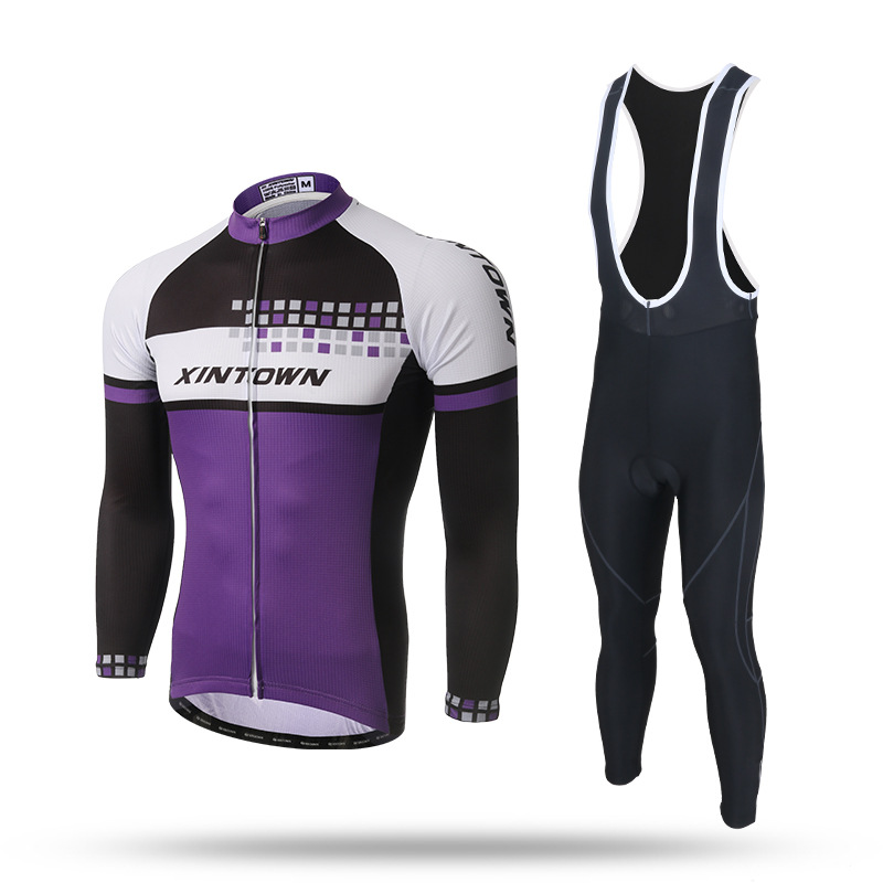 XINTOWN Cycling Sets Spring Long Sleeve Cycling Jersey Men Riding Suits Jacket Cycling Padded Pants Bike Bicycle Clothing