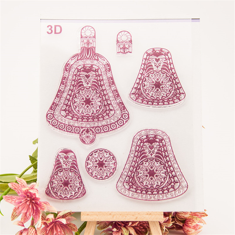 2016 new paper craft 3d christmas gift stamps Scrapbook DIY Photo Album silicone clear Stamps cartoon paper card CC-245