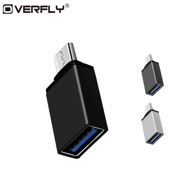 Overfly USB Type C To USB 3.0 Adapter Type C Male To OTG USB3.0 Female Converter For Xiaomi