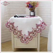 цены European White Thick Jacquard Hollow Tablecloths Refrigerator Coffee Table TV Cabinet Lace Tablecloth Cover Towel Home Fabric