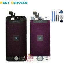 Marca oem para iphone 5 5g 5c 5s pantalla lcd con Pantalla Táctil Digitalizador Asamblea Negro Blanco + Herramientas de Envío Gratis
