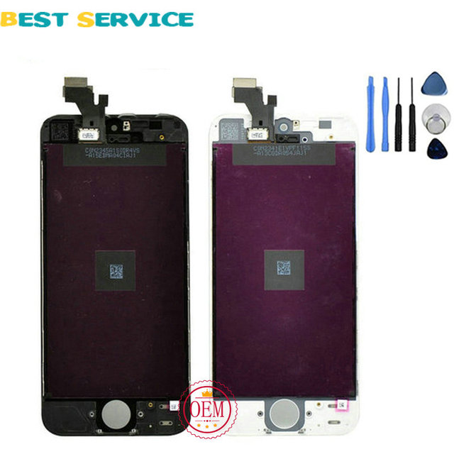 Grade AAA No Dead Pixel For iPhone 5 5g 5C 5S LCD Screen Display with Touch Screen Digitizer Assembly + Tools Free Shipping