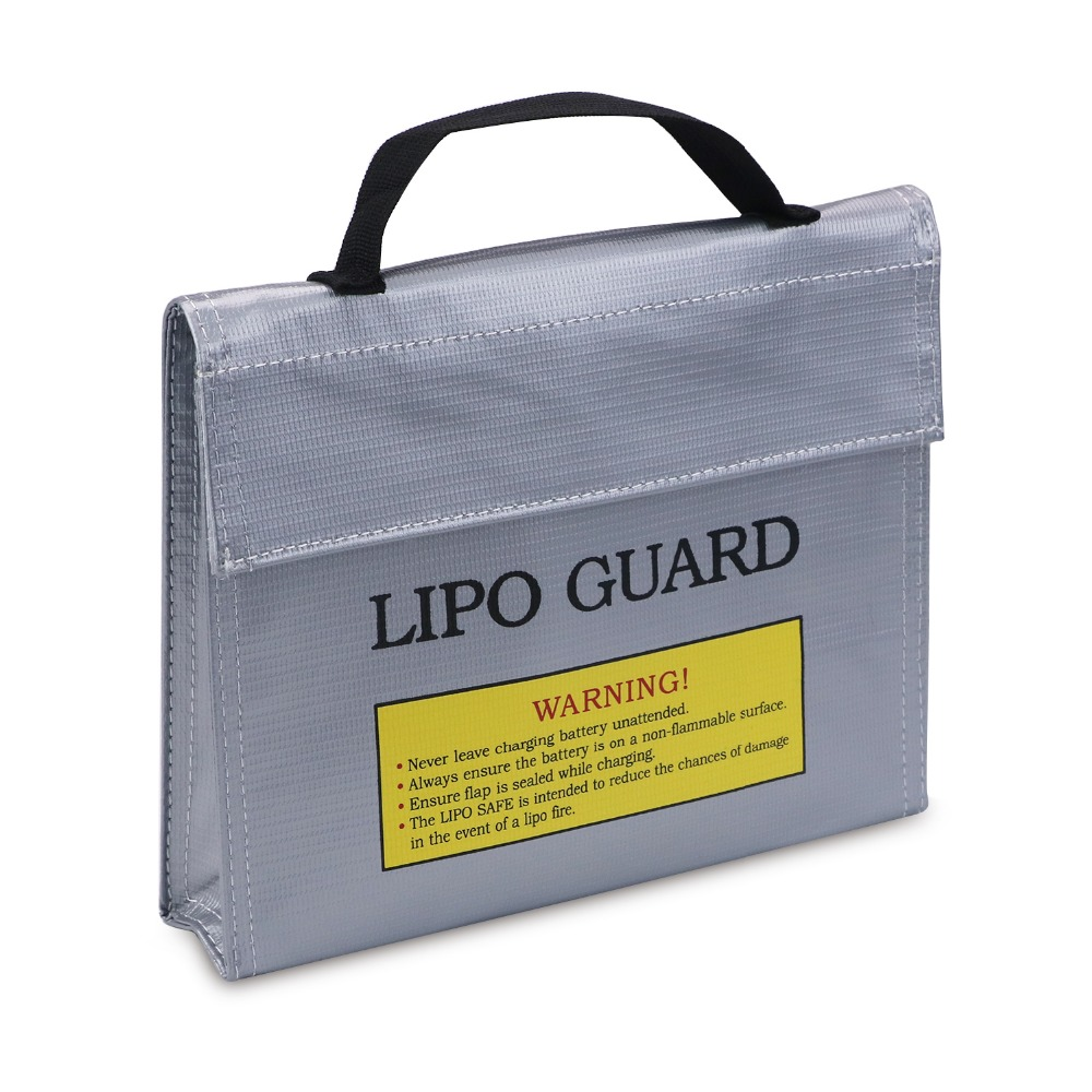 NASTIMA Fireproof & Blast proof Lipo Battery Safety Guard Bag for Charge & Storage, Silver, 24 6.5 18 cm