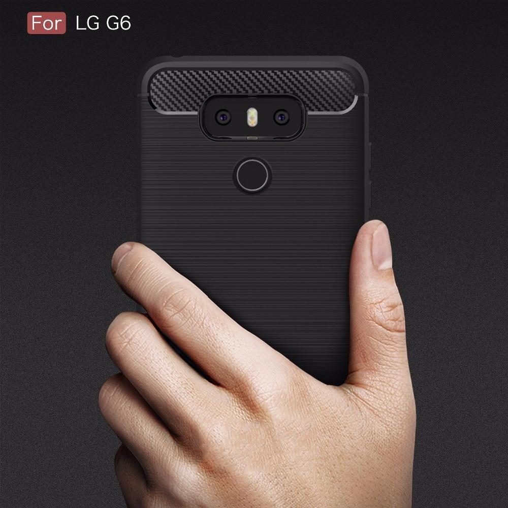 Hohe Qualität Telefon Fall Für LG G6 Kohlefaser Brushed Drahtzieh ...