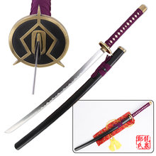 Javel lame en acier véritable Katana japonais | Lame en acier véritable, dessin animé Cosplay épée Muramasa Kmga Kuchiki Koga avec Scabbard