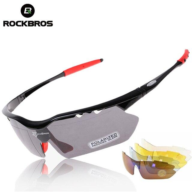 8afda01bd58b5 ROCKBROS MTB Road Bike Bicicleta Ciclismo Corrida de Equitação Óculos  Polarizados Esportes Óculos Óculos de Sol
