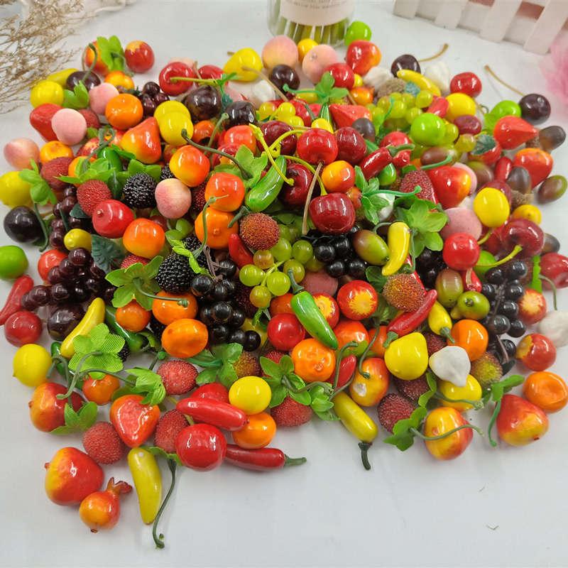 10. Unidades Pacote DE Espuma Misturada Mini Simulacao DE Frutas E Legumes Artificiais Cozinha Brinquedos Para As Criancas DE