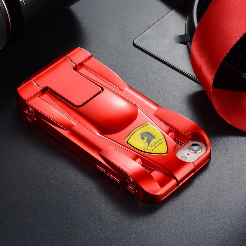 newest 01aa7 8f824 Aliexpress.com : Buy 3D Ferrari Sports Racing Car Design Case For iPhone X  8 8Plus Hard PC Cover For iPhone 6 6S 7 Plus Transformable Kickstand Shell  ...