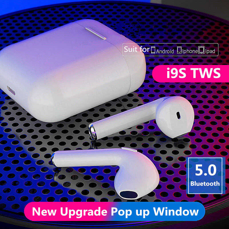 New Upgrade i9s TWS Bluetooth Earphone 5.0 in ear mini Wireless Headsets Bass stereo Earbuds for iPhone Android Xiaomi PK I11