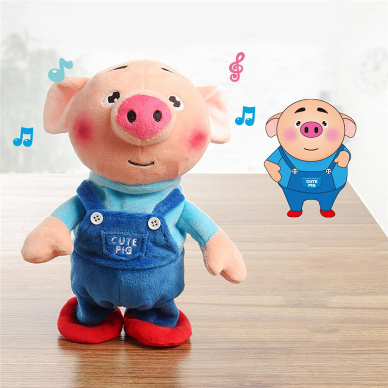Electric Plush Toy Stuffed Singing Pig Animal Toy Music Toy For Children Gifts Toys