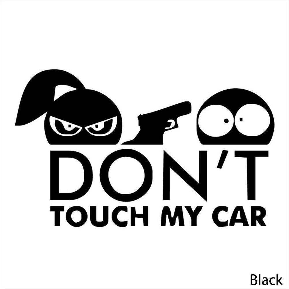 Fashion Car Sticker 15*7 CM DONT TOUCH MY CAR Sticker Boy And Girl Funny Car Sticker Vinyl Decals Black/white