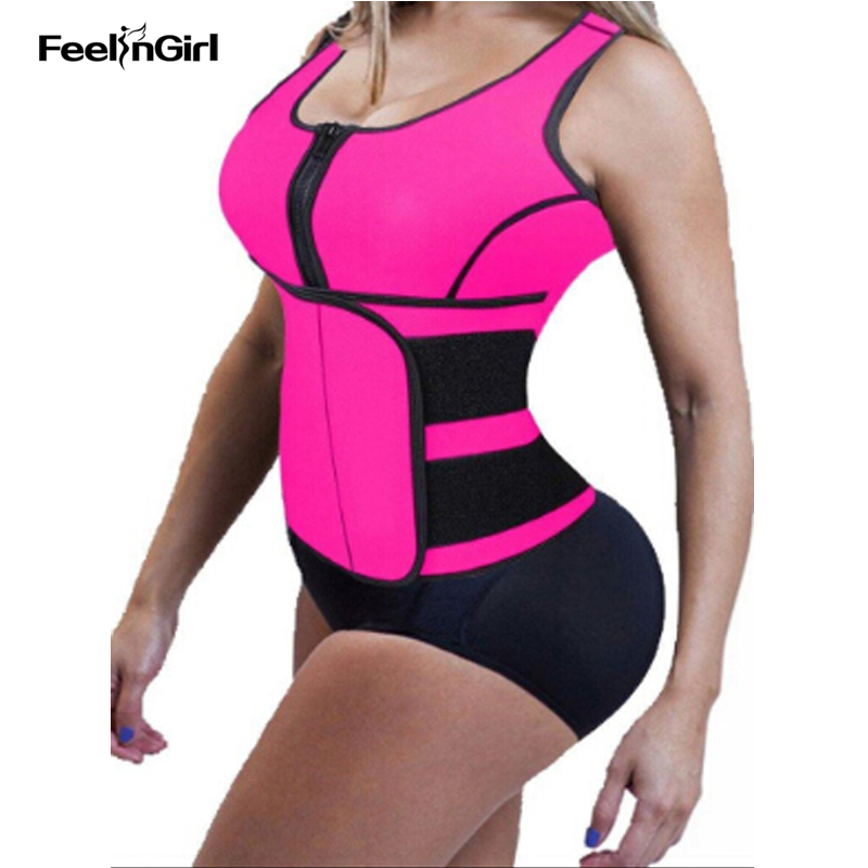 FeelinGirl Neoprene Waist Trainer Sauna Shapewear Workout Slimming Sweat Belt Waist Trimmer...