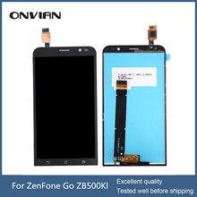 Für asus zenfone go zb500kl lcd display touchscreen digitizer modul montage ersatz 2 teile/los