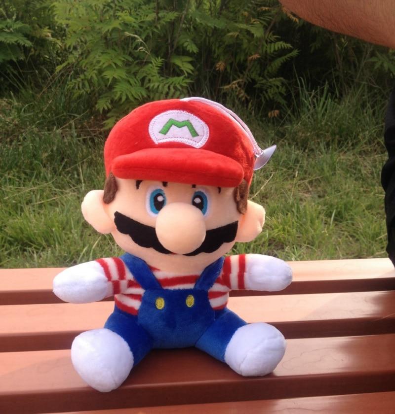 New 8CM Super Mario Figure Plush Soft Stuffed toy Super Mario Bors Figure Mario Luigi Figurine Plush toys for Kid Game oyuncak