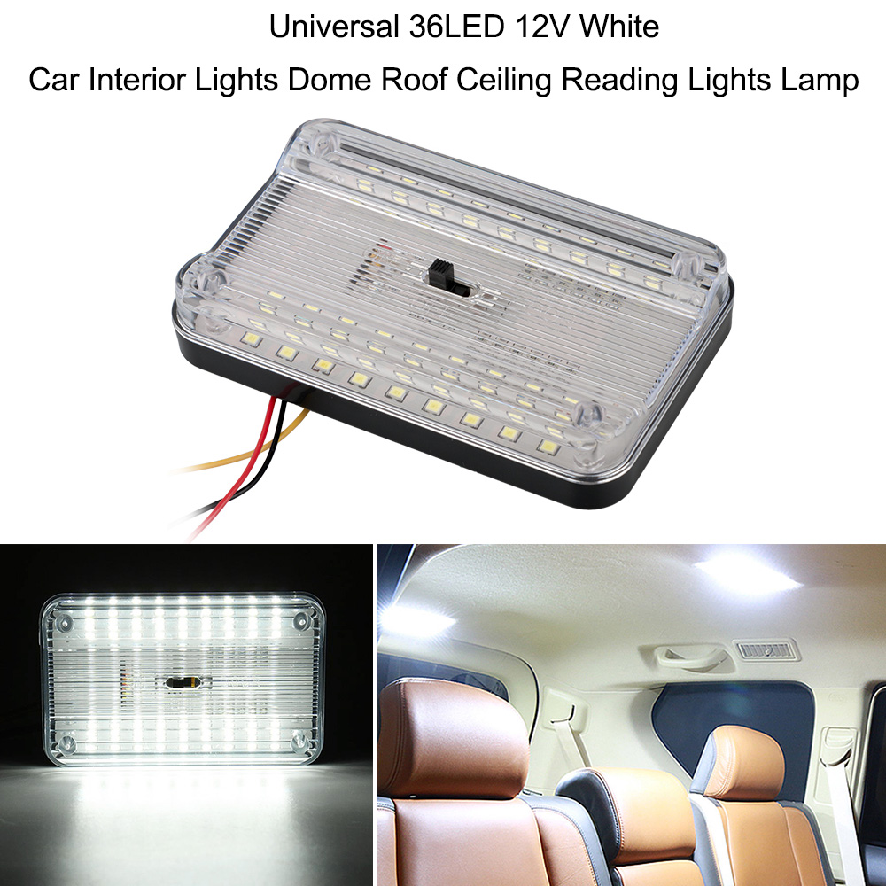 12V Universal 36LED White Car Vehicle Interior Dome Roof Ceiling Light Lamp Bulb