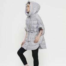 [ LYNETTE'S CHINOISERIE – Qing Chen ] Original design women 90 white duck down fifth sleeve lacing design loose short down coat