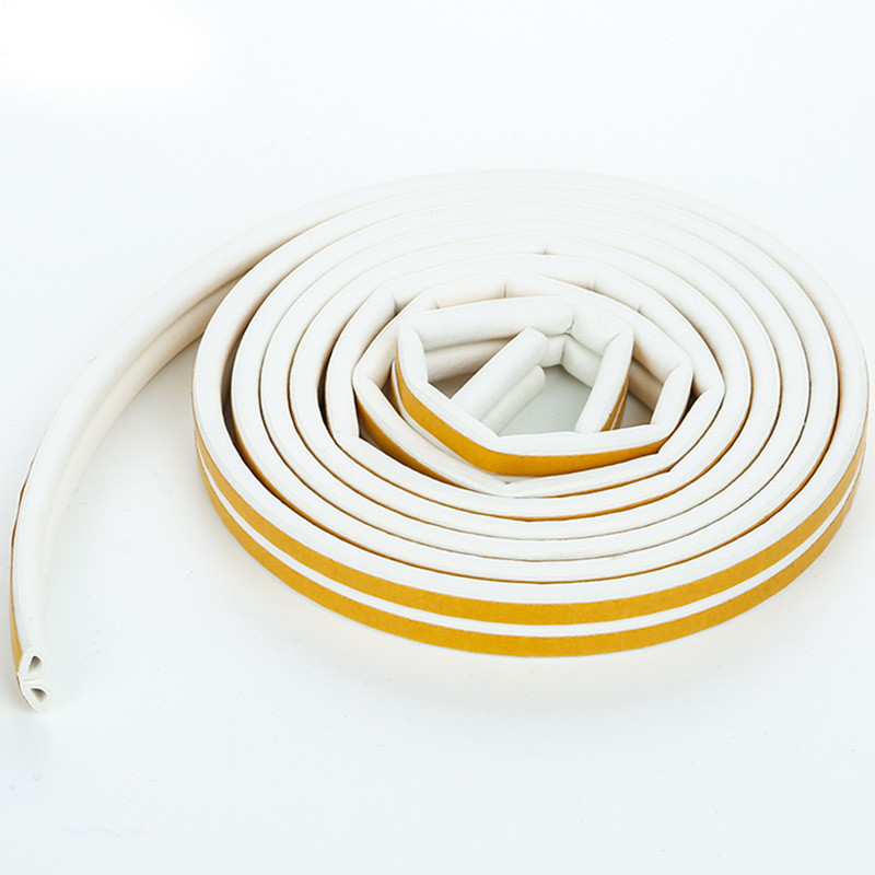 5M Self Adhesive D Type Sealing Strips for Doors Windows Sound Foam Weather Strip Soundproofing Rubber Seal Avoidance Collision in Sealing Strips from Home Improvement