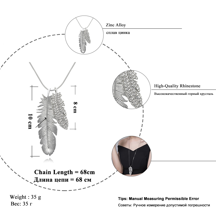 033570423ebd RAVIMOUR Collier Femme suéter cadena moda collar largo mujeres ...