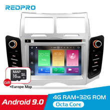 4G RAM+32G ROM 7''Android 9.0 Car DVD Radio GPS Multimedia Player For Toyota YARIS 2005-2011 Auto Audio Video Stereo Navigation
