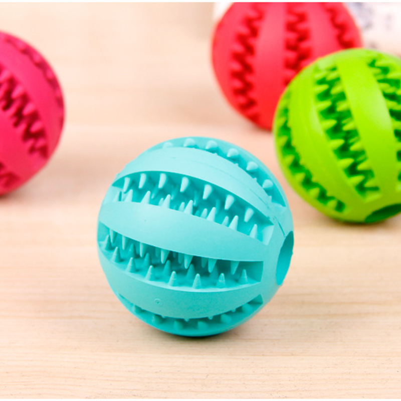 OnnPnnQ Rubber Pet Dog Cat Toy Ball Chew Treat Holder Tooth Cleaning Ball Food Dog Puppy Ball Training Interactive Pet Supplies4