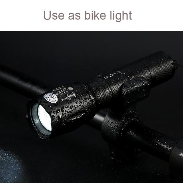 Powerful 8000 Lumens LED Flashlight CREE XM-L T6 Torch Adjustable Lanterna Bicycle Light +DC/Car Charger+18650 Battery+Holster