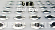 5mm, Silver Color / Wholesale 1400 Flat  Eyes, Fly Tying, Jig Tying, Lure Making, Spinner Baits, 3/16″