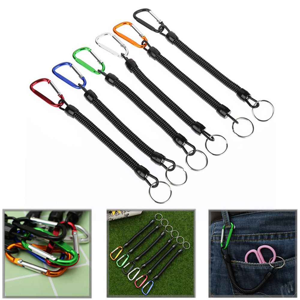 5Pcs Fishing Lanyard Fixed Rope Fishing Rope Rowing Rope And Camping Carabiner Safety Lock Fishing Tool Accessories