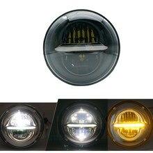For Land Rover Defender 7 Inch 50W UAZ DRL LED H4 Headlight For Jeep Wrangler LED Turn Signal Headlamp Daytime Running Lights