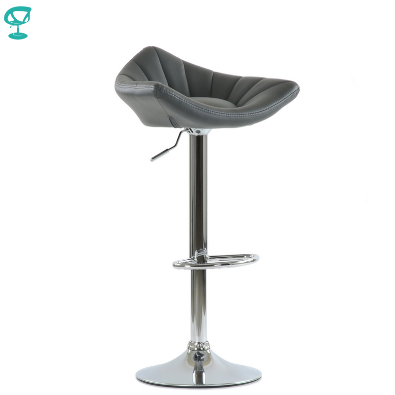 N44CrPuGray Barneo N-44 PU Leather Kitchen Breakfast Bar Stool Swivel Bar Chair Gray Color Free Shipping In Russia