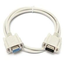 Cable de extensión RS232 de 9 pines macho a hembra DB9 de 9 pines, convertidor para PC, PC, conector de ordenador, novedad de 1,3 M