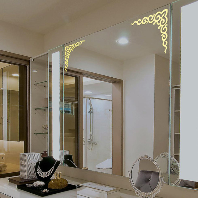 Online Shop Acrylic 3d Mirror Stickers Modern Home Decoration Gold