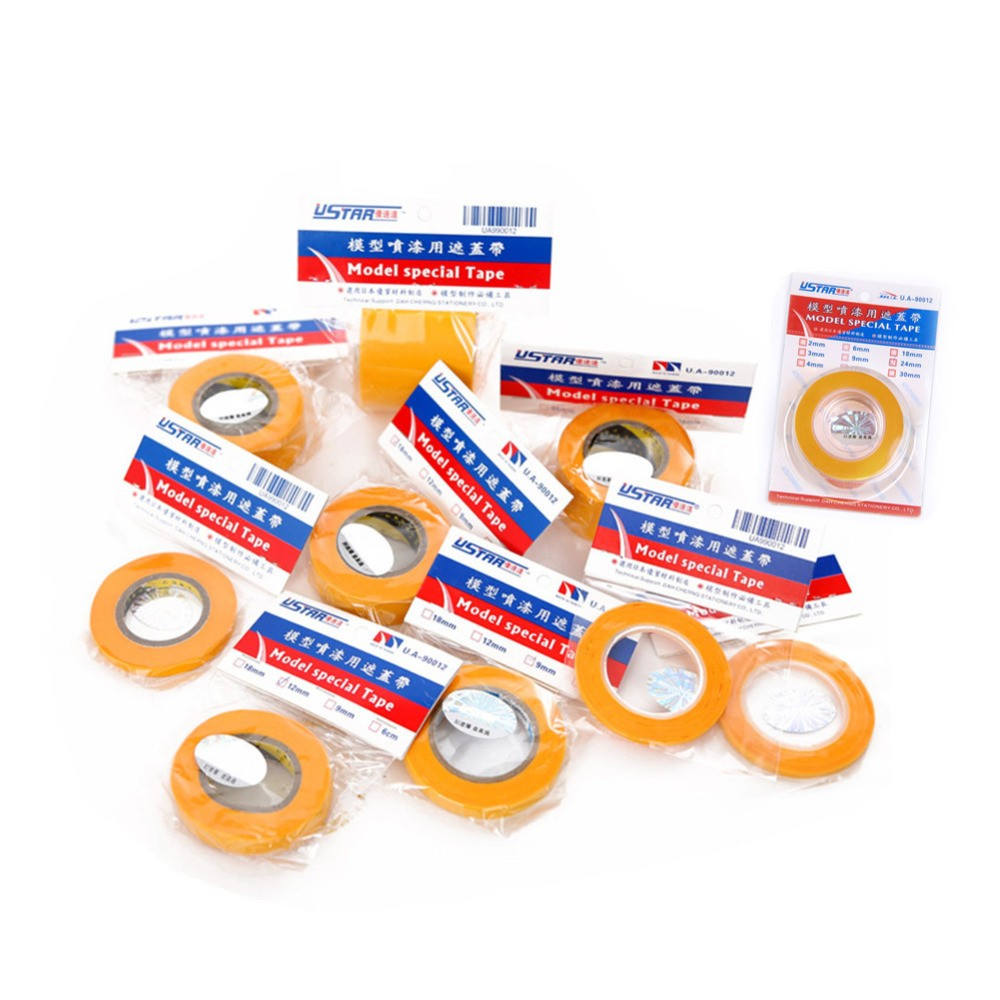 U-STAR Masking Tape 10 Kinds Of Specifications Model Special Masking Tape 2mm-50mm Model Hobby Painting Tools Accessory цена 2017