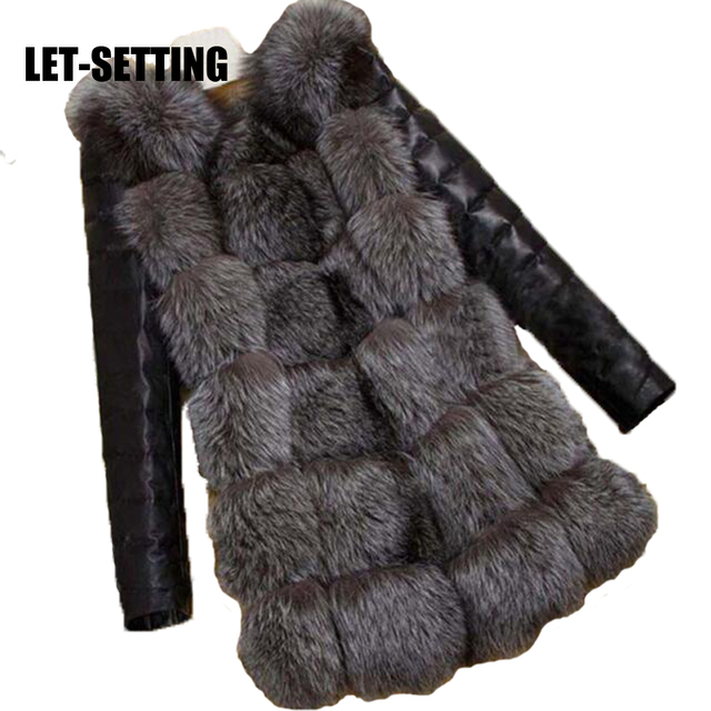 LET-SETTING New grass faux fur coat women jackets imitation fur fashion waistcoat long sleeve fur female coat