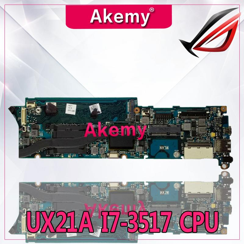 Akemy UX21A I7-3517 CPU 4GB RAM mainboard REV 2.0 For ASUS UX21 UX21A Laptop motherboard 100% Tested WorkingAkemy UX21A I7-3517 CPU 4GB RAM mainboard REV 2.0 For ASUS UX21 UX21A Laptop motherboard 100% Tested Working