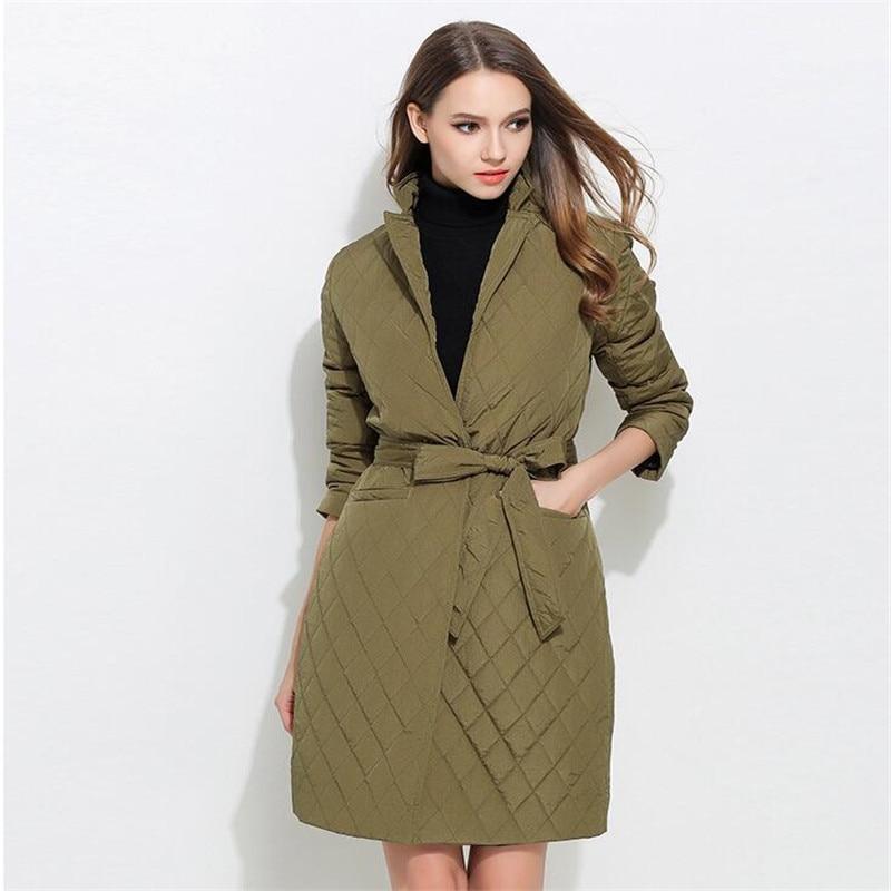 Winter Jacket Women Cotton Long Jacket 2017 New Autumn Brand Clothing Women Parka Womens Long Thin Jacket Warm Coat  A3380