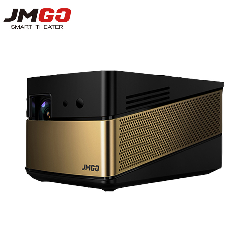 Jmgo v8 mini projector led full hd 1080p proyector 4k android 3d projetor builting bluetooth for Small bluetooth projector