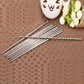 5 Pair High Quality Stainless steel Material Durable Thread-shaped Chopsticks Tableware Cutlery Kitchen Supplies