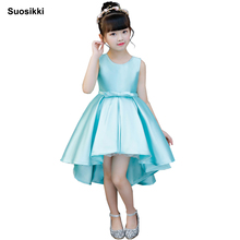 Flower Girls Dresses for Wedding Kids Pageant Dress First Holy Communion Dresses for Little Baby high lowParty Prom Dress недорого