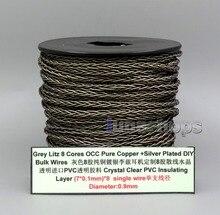 LN006141 リッツ 8 コア純粋な Occ 銀メッキバルクワイヤーカスタム Diy Shure を Fostex QDC ue 1964 ノーサンプトンイヤホンヘッドホンケーブル