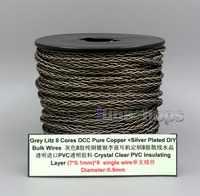 LN006141 Litz 8 núcleos puro OCC Chapado en plata alambre a granel para encargo DIY Shure Fostex QDC ue 1964 westone auricular cable de auriculares