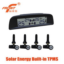 Solar Power Supply TPMS / Wireless Tire Pressure Monitoring System For Car Internal Sensors Intelligent Induction Safe Driving