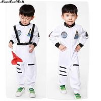 Kids Astronaut Costume Boys Handsome Spaceman Jumpsuit Halloween Fancy Dress Outfit In Masquerade Carnival Party Performance