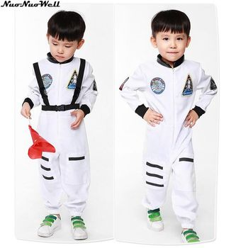 Kids Astronaut Kostuum Jongens Knappe Ruimtevaarder Jumpsuit Halloween Fancy Dress Outfit in Maskerade Carnaval Party Prestaties