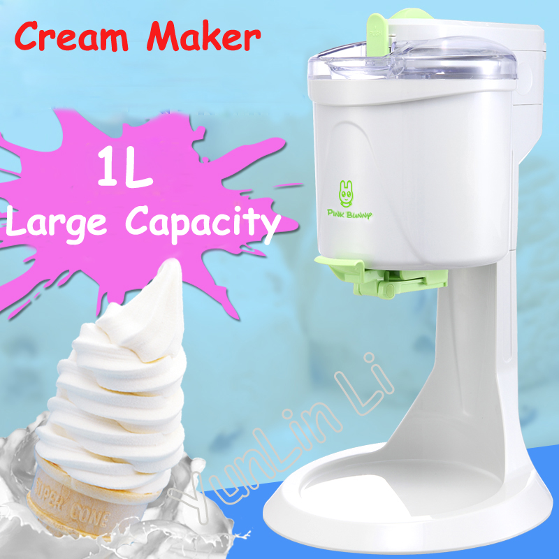1L Desktop Ice Cream Machine Household Automatic Hard Cone Ice Cream Machine Large Capacity DIY Fruit Ice Cream Maker BL-1000 free shiping fried ice cream machine 75 35cm big pan with 5 buckets fried ice machine r22 ice pan machine ice cream machine