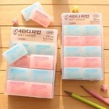 South Korea lovely transparent 4B color eraser kawaii rubber creative stationery soft eraser clean a positive art eraser set