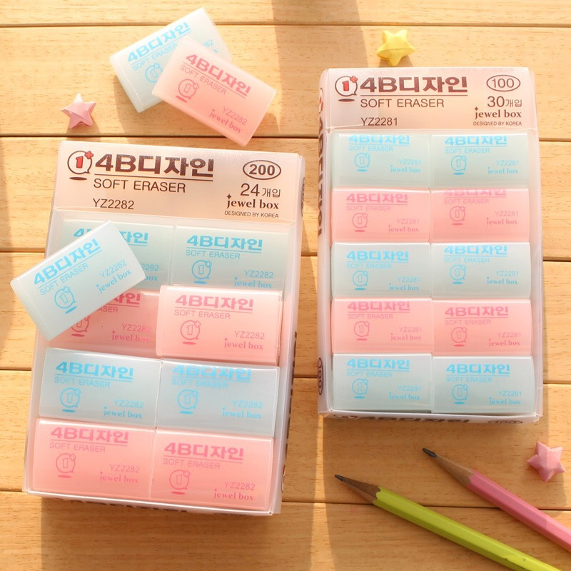 South Korea lovely transparent 4B color eraser kawaii rubber creative stationery soft eraser clean a positive art eraser set ms2 80mm ms2 qcc 80 taper shank 3 inch shank adapter chuck accessories